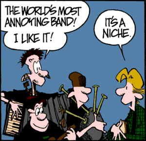 The boys discuss their band's probable impact. Artists: Jim Borgman and Jerry Scott.