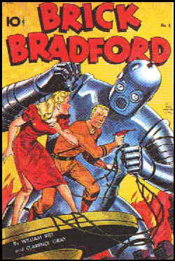 A 1948 Brick Bradford comic book cover.